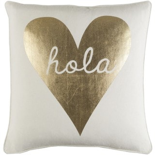 Decorative 18-inch Hill Down or Polyester  Filled Throw Pillow