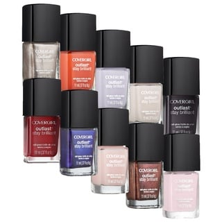 CoverGirl Outlast Stay Brilliant Nail Gloss 10-piece Set