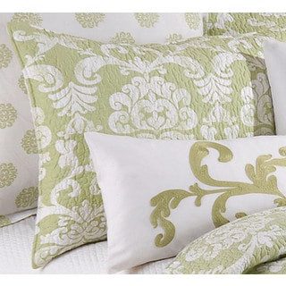 Providence Cucumber Green Cotton Standard Sham