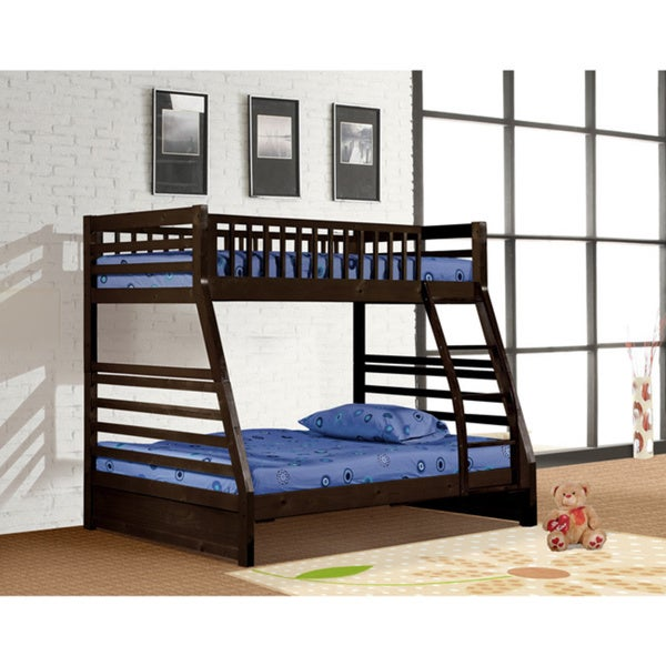 Shop Twin Size Over Full Size Standard Bunk Bed Free