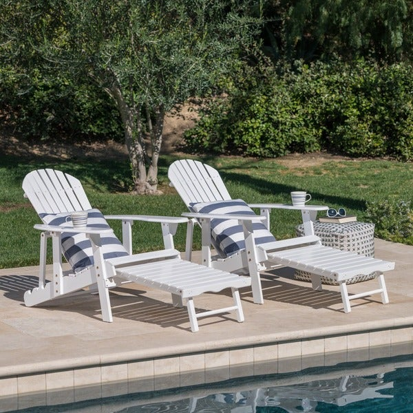 Hayle Outdoor Reclining Wood Adirondack Chair With Footrest (Set Of 2) By  Christopher Knight