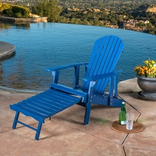 Hayle Outdoor Reclining Wood Adirondack Chair with Footrest (Set of 2) by Christopher Knight Home (3 options available)