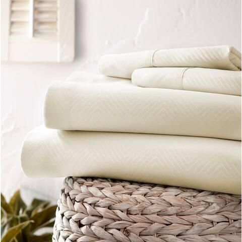 Merit Linens Premium Ultra Soft Chevron 4-piece Bed Sheet Set
