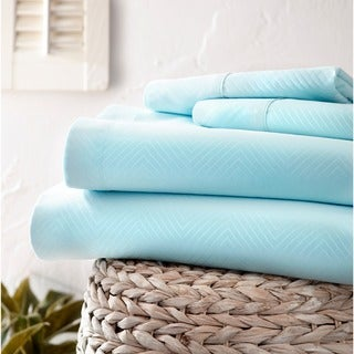 Merit Linens Premium Ultra Soft Chevron 4-piece Bed Sheet Set