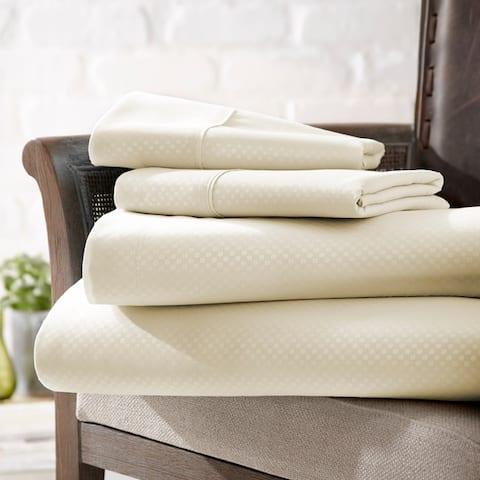 Merit Linens 4-piece Premium Ultra Soft Checker Design Bed Sheet Set