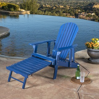Hayle Outdoor Reclining Wood Adirondack Chair with Footrest by Christopher Knight Home (4 options available)