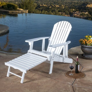 Christopher Knight Home Hayle Outdoor Reclining Wood Adirondack Chair with Footrest