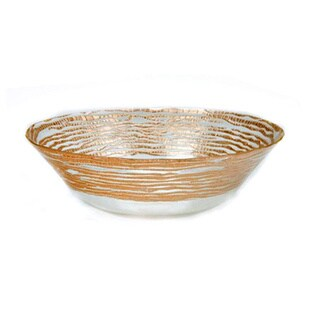 Magara Gold Glass Soup / Salad Bowl