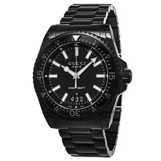 Link to Gucci Men's YA136205 'Dive' Black Stainless Steel Watch Similar Items in Men's Watches