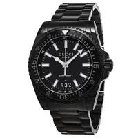 df1dea1c8ad Gucci Men s YA136205  Dive XL  Black Dial Black Stainless Steel Swiss ...