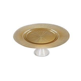 Ritz Gold and Silver Footed Cake Plate