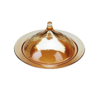 Amber Luster Rabat Covered Dish