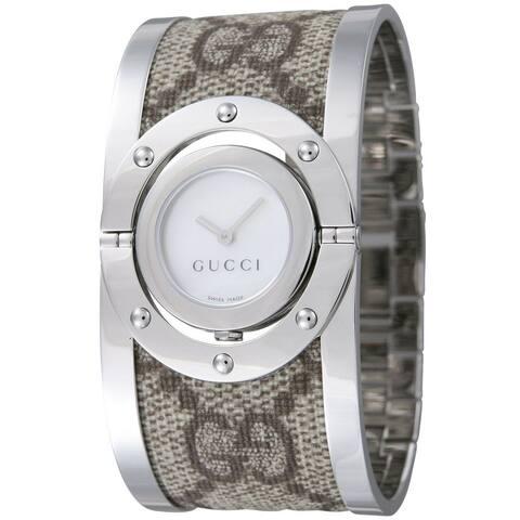 Gucci Women's YA112418 'Twirl' Brown Stainless Steel Watch
