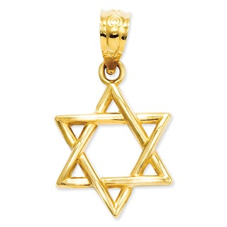 Versil 14k Yellow Gold Polished Star of David Pendant
