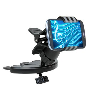 USA Gear Universal CD Player Slot Mount Holder with Rotating Design for Smartphones & GPS Devices