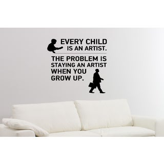 Children Every Child is an Artist Wall Art Sticker Decal