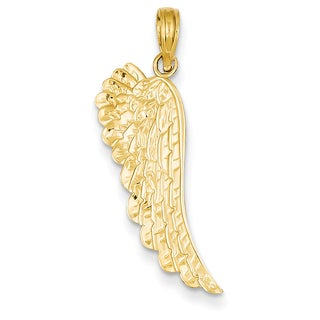 Versil 14k Yellow Gold Angel Wing Pendant