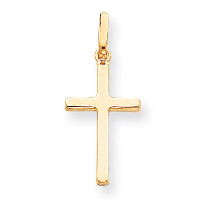 Versil 14 karat Yellow Gold Hollow Cross Pendant