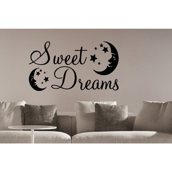 stars and moon sweet dreams wall art sticker decal free shipping