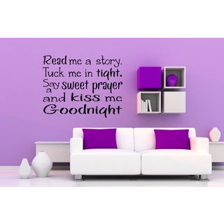 Phrase Read Me a Story Wall Art Sticker Decal
