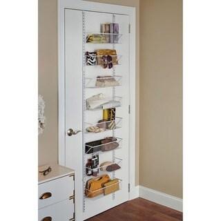 ClosetMaid White Epoxy Coated Stainless Steel Adjustable Hanging Basket  Organizer