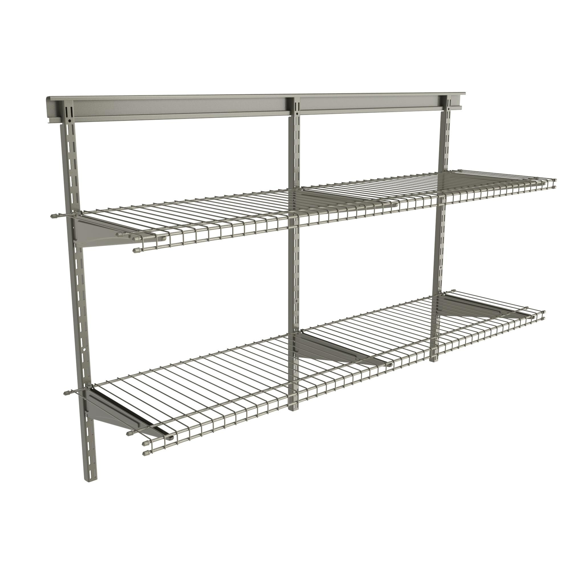 Closetmaid Shelftrack 2 Shelf Nickel Wire Shelving Unit