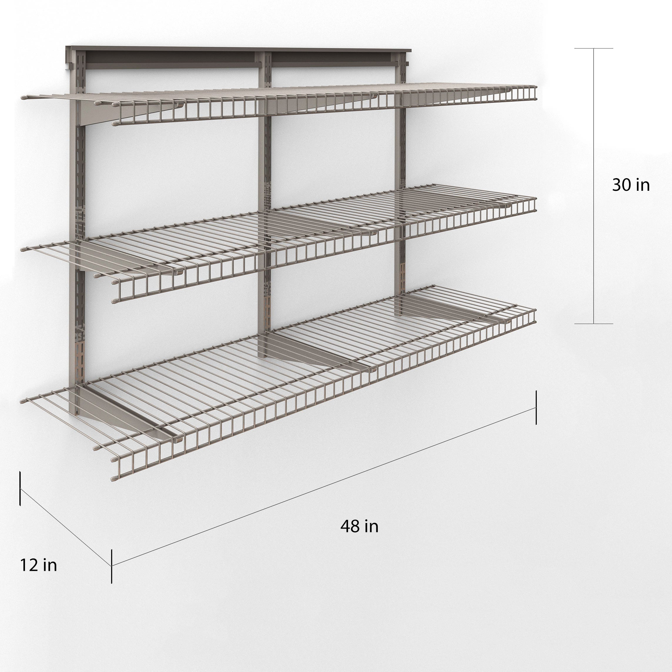 Closetmaid 3 Shelf Nickel Wire Shelving Unit