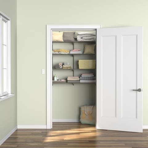 ClosetMaid ShelfTrack 4-Shelf Nickel Wire Shelving Unit
