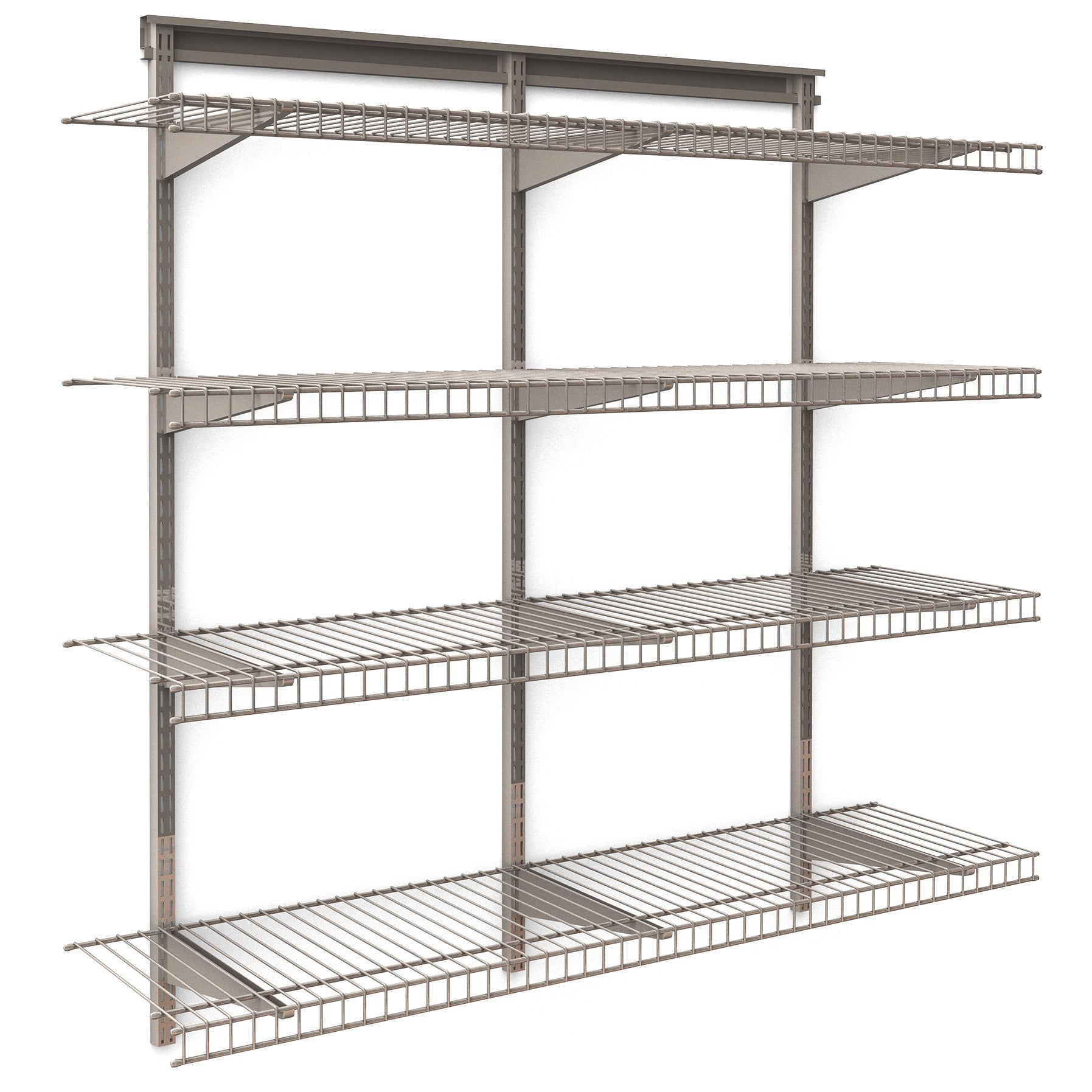 Closetmaid Shelftrack 4 Shelf Nickel Wire Shelving Unit