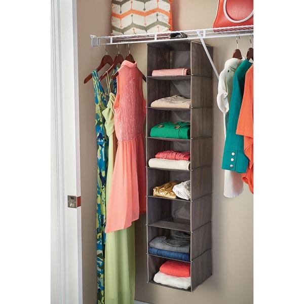 Shop Closetmaid 8 Shelf Hanging Closet Organizer Free
