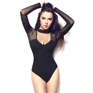 Miorre Ladies Black Long-Sleeve Bodysuit