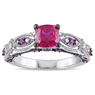 Ruby Wedding Rings Complete Your Special Day Overstockcom