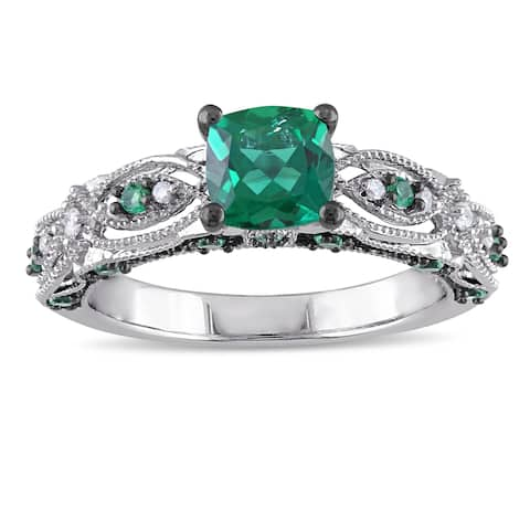 Buy Emerald Gemstone Rings Online at Overstock | Our Best