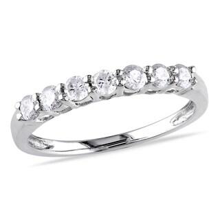 Miadora 10k White Gold 1/2ct TW Diamond Anniversary Ring