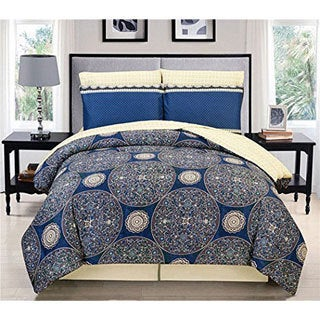 Couture Home Collection Flaming Star Damask Printed Comforter 8-piece Set
