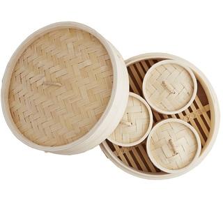 IMUSA Global Kitchen GKG-61004 4 Piece Dim Sum Set with Booklet