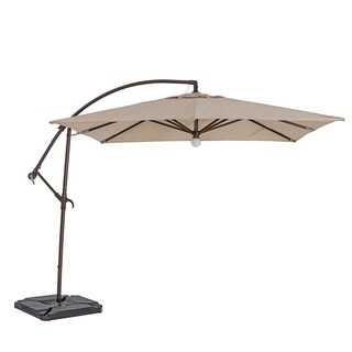 TrueShade Plus9-foot Cantilever Square Umbrella with Light