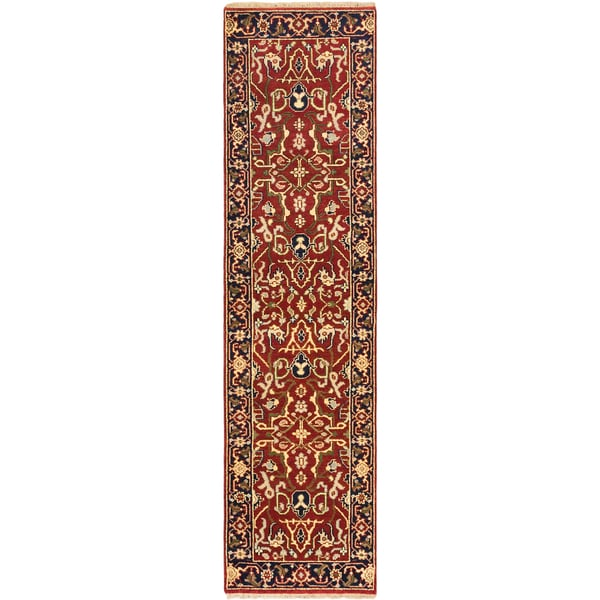Ecarpetgallery Hand-knotted Serapi Heritage Brown Wool Rug (2'7 x 9'11)