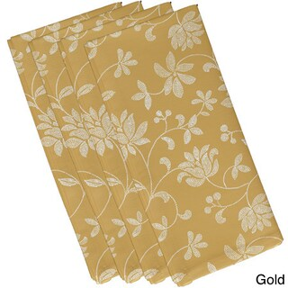 19-inch x 19-inch Traditional Floral Floral Print Napkin (Option: Yellow)