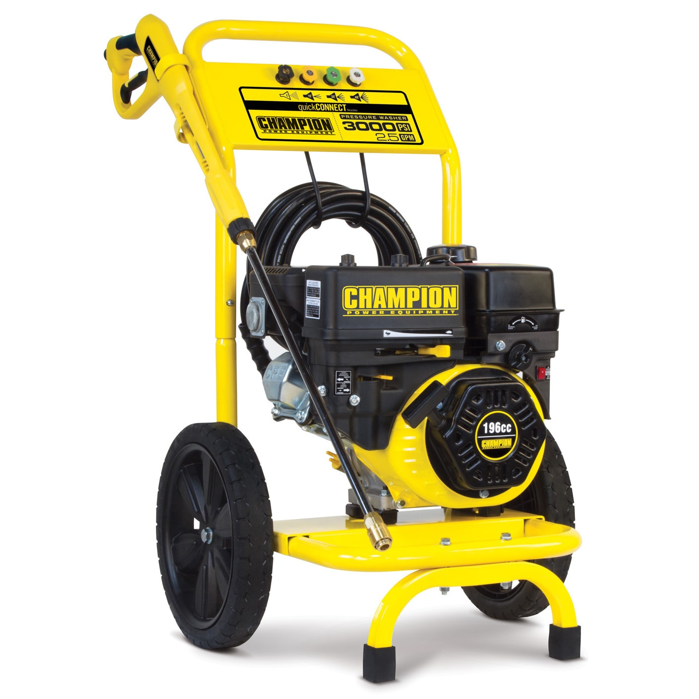 Champion Power Equipment 3000 PSI/2.5 GPM Dolly Style Gas...