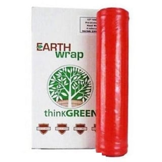 Hand Wrap 16 In 1500 8.5 Mic Red Pre-Stretch Wrap Shrink Film Banding 256 Rolls