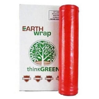 Hand Wrap 16 In 1500 Ft Green Pre-Stretch Wrap Shrink Film Banding (4 Rolls) 8.5 Mic