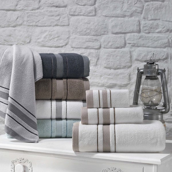 Shower Towel Broke: Shop Enchante Home Enchasoft Zero Twist Turkish Cotton 6