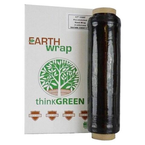 Hand Wrap 16 In 1500 Black Pre-Stretch Wrap Shrink Film Banding (16 Rolls)