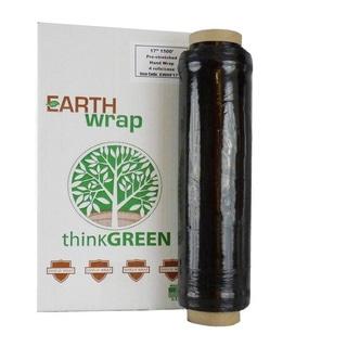 Hand Wrap 16 In 1500 Ft Black Pre-Stretch Wrap Shrink Film Banding (4 Rolls) 8.5 Mic