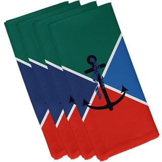 19 x 19-inch, Anchor Flag, Geometric Print Napkin