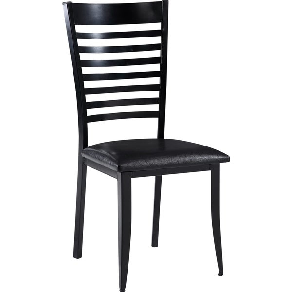 shop contemporary black metal and upholstered dining chair free shipping today overstock. Black Bedroom Furniture Sets. Home Design Ideas