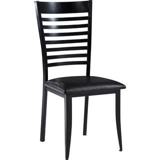 Contemporary Black Metal and Upholstered Dining Chair