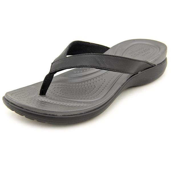17e5dccc34bed Shop Crocs Women s  Capri IV Flip  Leather Sandals - Free Shipping ...