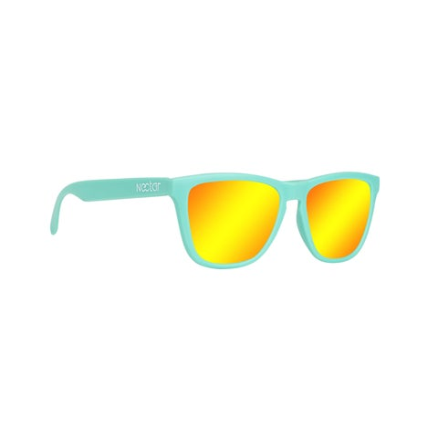 Kiwi Polarized Sunglasses Mint Frame Orange Lens